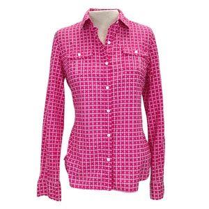 Tommy Hilfiger Pink White Button Down Shirt M